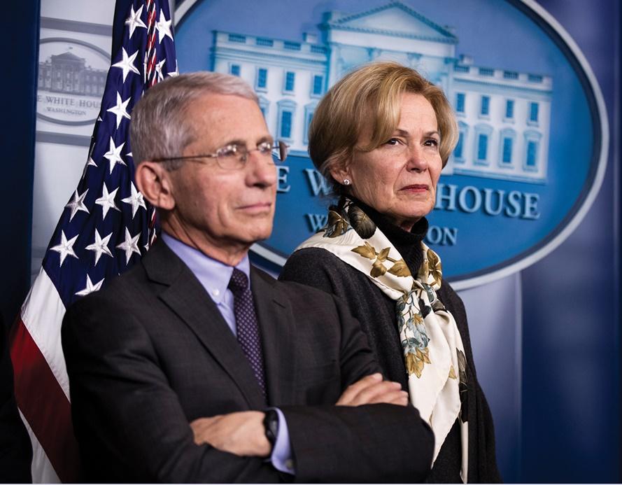 Deborah Birx,Anthony Fauci,Donald Trump