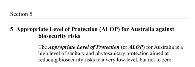 Biosecurity Act – Section 5